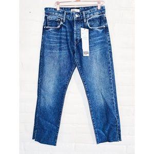 Zara || High Waisted Jeans with Raw Hem 6